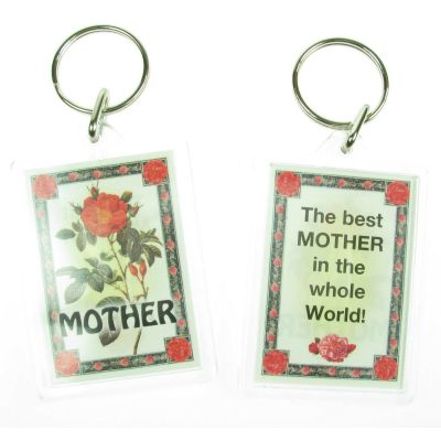 NOVELTY FAMILY NAME MOTHER KEYRING PRINTED BOTH SIDES, UK,  NEW