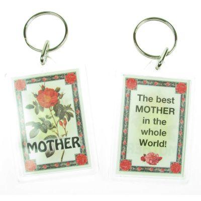 NOVELTY FAMILY NAME MOTHER KEYRING PRINTED BOTH SIDES, UK,  NEW
