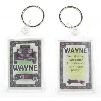 "NOVELTY NAME KEYRING PRINTED BOTH SIDES WITH ORIGIN & MEANING, LETTER ""W"" UK NEW"