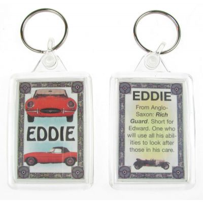 "NOVELTY NAME KEYRING PRINTED BOTH SIDES WITH ORIGIN & MEANING, LETTER ""E"" UK NEW"