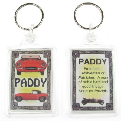 "NOVELTY NAME KEYRING PRINTED BOTH SIDES WITH ORIGIN & MEANING, LETTER ""P"" UK NEW"