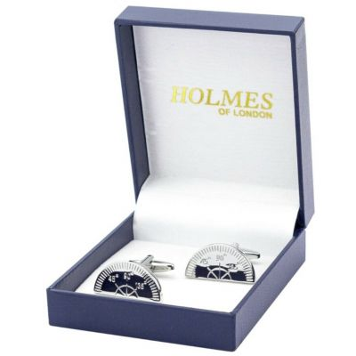 CUFFLINKS PROTRACTOR RULER MATHS TEACHER ARCHITECT CUFF LINKS XMAS PARTY BNIB UK