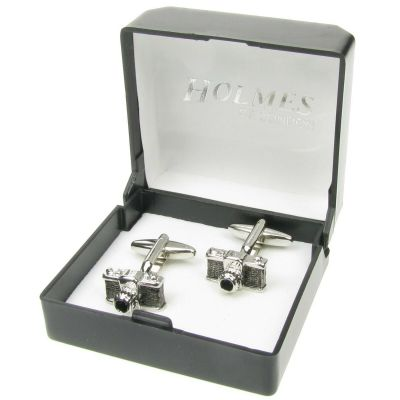 SILVER CUFFLINKS CAMERA PHOTOGRAPHER PHOTO SHOOT CUFF LINKS BIRTHDAY GIFT BNIBUK
