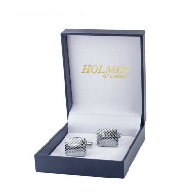CUFF LINKS SILVER SHIRT GROOM WEDDING FAVOUR BOX PROM BESTMAN CUFFLINKS UK CK05