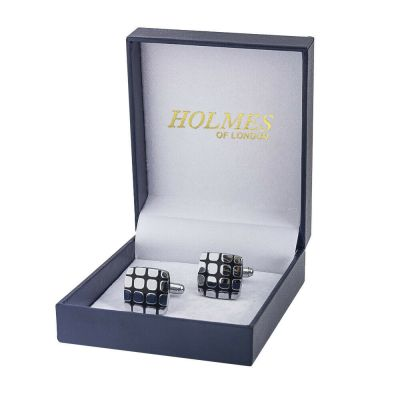 CUFF LINKS SILVER SHIRT WEDDING FAVOURS BOX PROM BESTMAN CUFFLINKS GROOM UK CK06