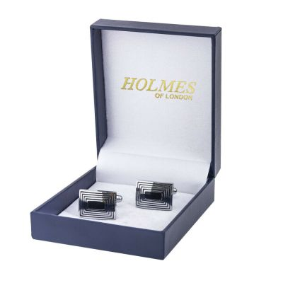 CUFF LINKS SILVER SHIRT GROOM WEDDING FAVOUR BOX PROM BESTMAN CUFFLINKS UK CK07