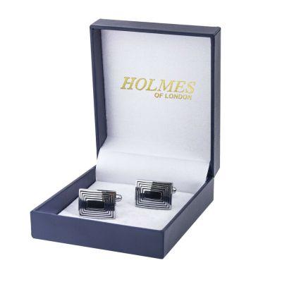 CUFF LINKS SILVER SHIRT GROOM WEDDING FAVOUR BOX PROM BESTMAN CUFFLINKS UK CK07