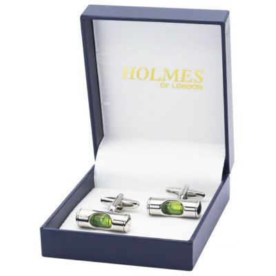 CUFFLINKS WORKING SPIRIT LEVEL BUILDER DIY ENGINEER CUFF LINKS GROOM GIFT NEW UK