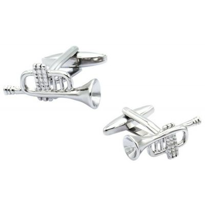 TRUMPET CUFFLINKS MUSICIAN MUSIC TEACHER INSTRUMENT CUFF LINKS NEW UK GIFTBOX