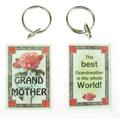 NOVELTY FAMILY NAME GRANDMOTHER KEYRING PRINTED BOTH SIDES, UK,  NEW