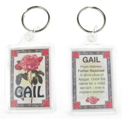"NOVELTY NAME KEYRING PRINTED BOTH SIDES WITH ORIGIN & MEANING, LETTER ""G"" UK NEW"