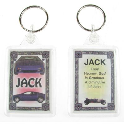 "NOVELTY NAME KEYRING PRINTED BOTH SIDES WITH ORIGIN & MEANING, LETTER ""J"" UK NEW"