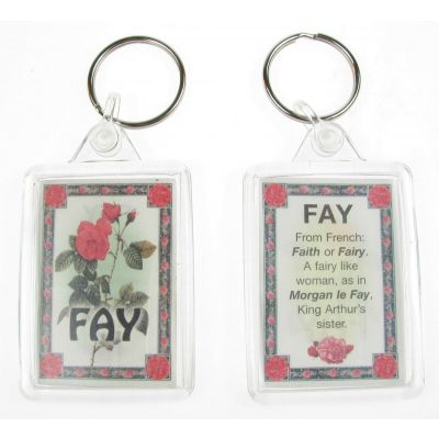 "NOVELTY NAME KEYRING PRINTED BOTH SIDES WITH ORIGIN & MEANING, LETTER ""F"" UK NEW"