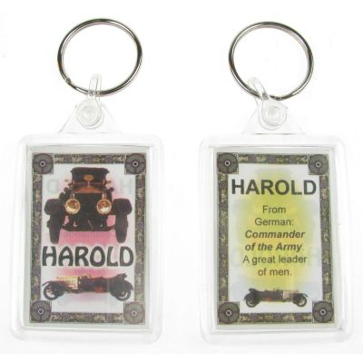 "NOVELTY NAME KEYRING PRINTED BOTH SIDES WITH ORIGIN & MEANING, LETTER ""H"" UK NEW"