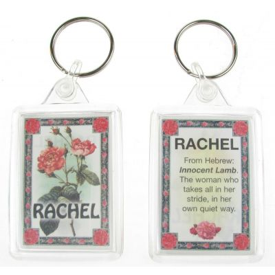 "NOVELTY NAME KEYRING PRINTED BOTH SIDES WITH ORIGIN & MEANING, LETTER ""R"" UK NEW"