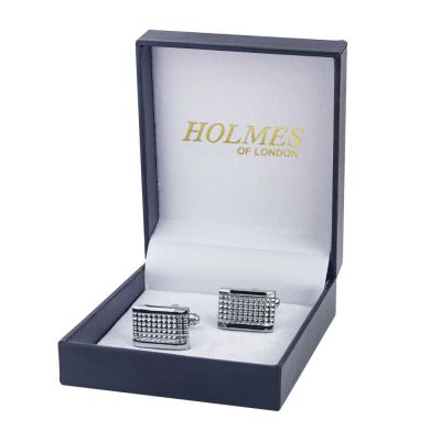 CUFFLINKS SILVER SHIRT WEDDING FAVOURS BOX GROOM BESTMAN PROM CUFF LINKS UK CK03