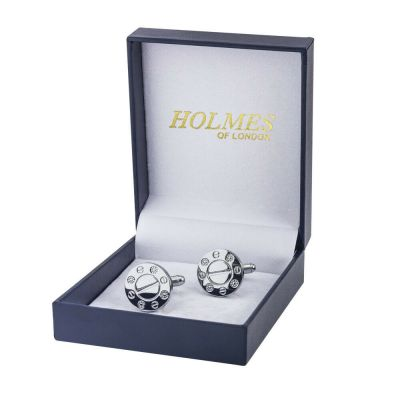 CUFF LINKS SILVER SHIRT WEDDING FAVOURS BOX GROOM PROM BESTMAN CUFFLINKS UK CK04