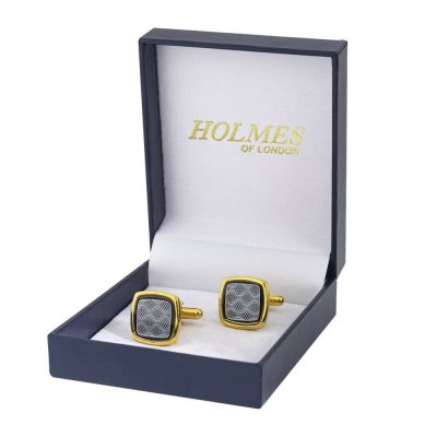 CUFF LINKS GOLD SHIRT WEDDING FAVOUR BOX GROOM BESTMAN PROM CUFFLINKS NEWUK CK11