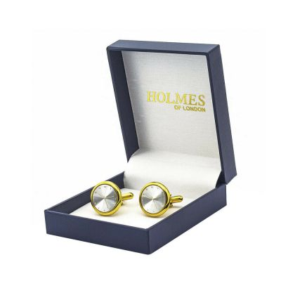 CUFF LINKS GOLD CLOCK FACE TIME WEDDING FAVOUR BESTMAN PROM CUFFLINKS NEWUK CK18