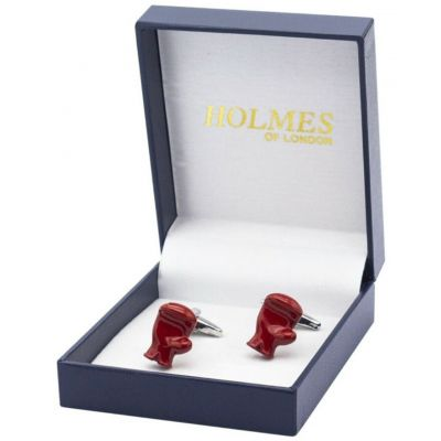 CUFFLINKS RED BOXING GLOVES BOXER FIGHTER SPORTS CUFF LINKS GROOM GIFT NEW UK